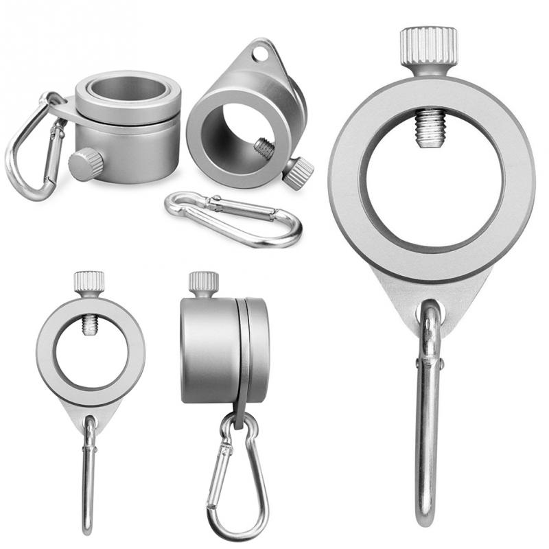 Aluminum Alloy Flag Pole Rings 360 Degree Rotating Flagpole Mounting Rings Kit With Carabiner For 0.75-1.02Inch Flagpole #719