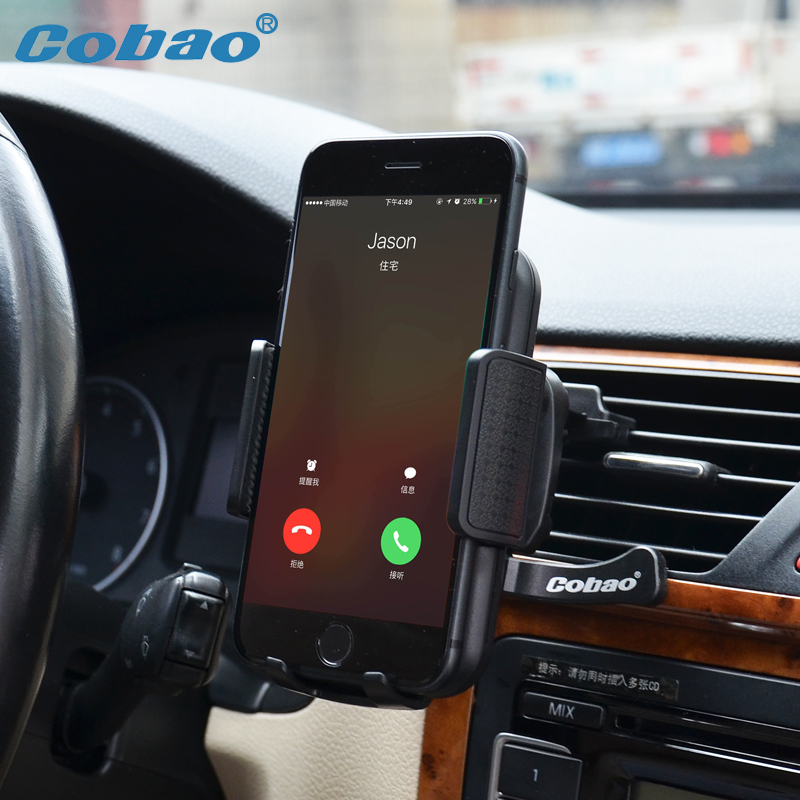 Cobao Smartphone Car Holder Air Vent Universal Phone Stand Holder 360 Rotation Phone Bracket For Huawei Samsung iPhone Xiaomi