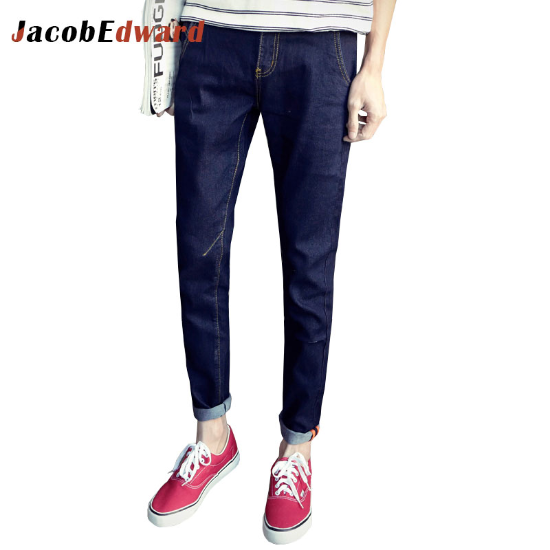 2017 New Fashion Ripped Jeans For Men Winter Casual Mens Cotton Full Length Straight Men's Plus Size
