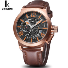 IK 2017 New Luxury Casual Men's watch Automatic Skeleton Business clock Mechanical Relogio Male Montre Mens Relojes