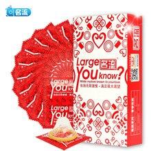 10 pçs tamanho grande preservativos para grande pênis verdadeiro homem mais tamanho 55mm condones ultra seguro pênis manga natural látex ferramenta de contracepção