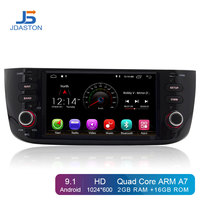JDASTON Android 9.1 1 Din Car Radio For Fiat Abarth Punto EVO Linea 2012 2014 Car Multimedia Player GPS Navigation Stereo Wifi