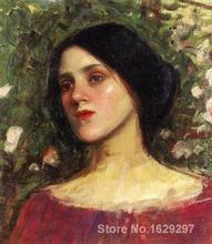 The Rose Bower John William Waterhouse reproduction art High quality Handpainted