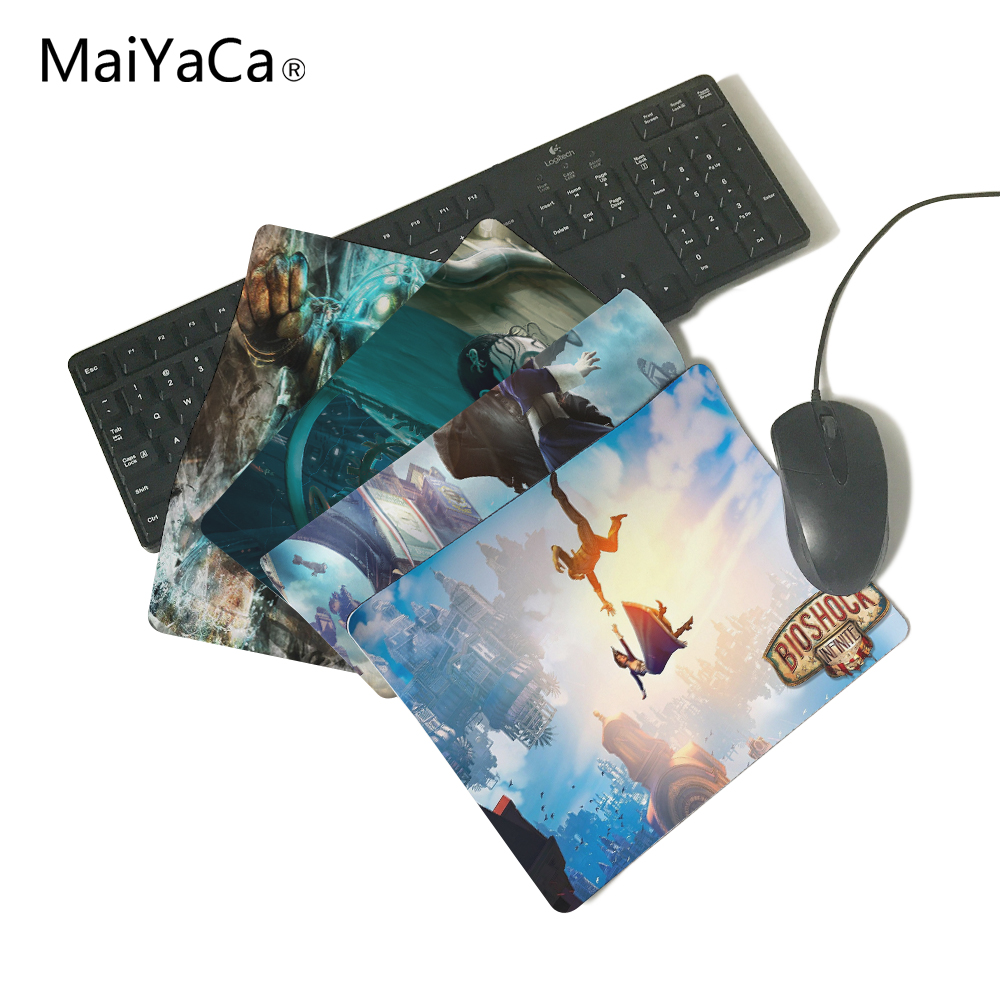MaiYaCa Unique Design Super Soft Bioshock Infinite Mousepads Radiation  Non-Skid Rubber Pad Not Overlock Mouse Pad