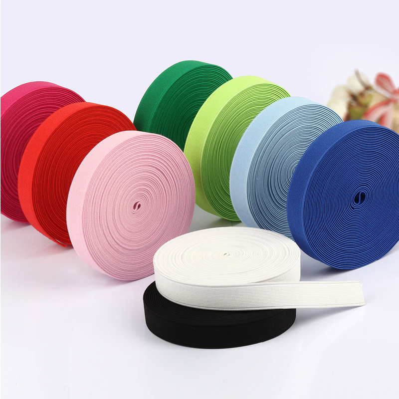 Multirole Elastic Band Thick Plain Weave Polyester Ribbon 2m Sewing Lace Trim Waist Bands Garment Accessory