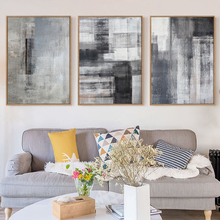 Bianche Wall Gray White Abstract Modern Minimalist Decoration Canvas Painting Art Print Poster Picture Home Decor
