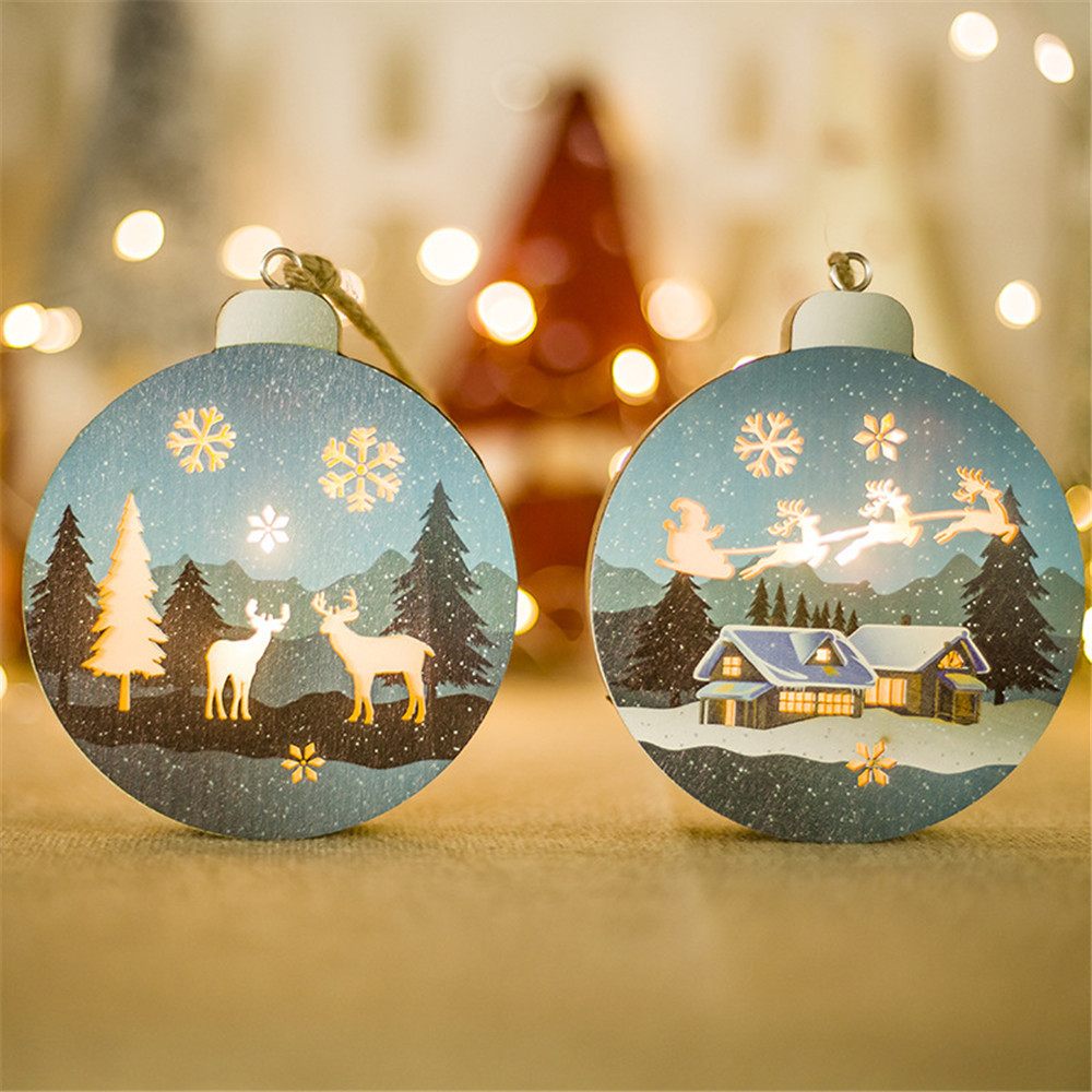 8418de5733b699 Nieuwe Jaar 2019 Kerst Decoraties Voor Thuis Warm Led Light Kerst Wedding  Xmas Party Houten Decoratie
