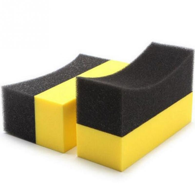 Adeeing Auto U-Shape Tire Wax Polishing Compound Sponge Tyre Cleaning Sponge ARC Edge Sponge Ideal For Cleaning R30