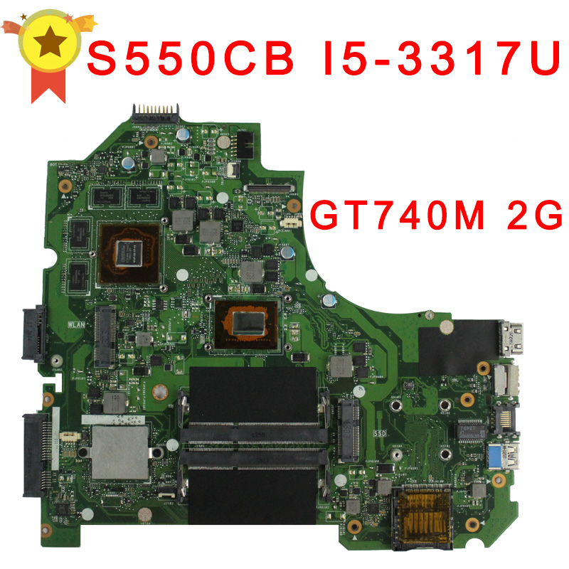 For asus Laptop Motherboard K56CB K56CM S550CB i5-3317 CPU PM Non-integrated Board GT740M Top Quality Fully Tested Mainboard for asus x550ea x550ep laptop motherboard cpu e1 2100 e1 2500 4gb non integrated mainboard 100% fully tested