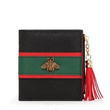 Bee Designer Genuine Leather Wallet Famous Brands