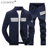 LISIBOOO 2018 Casual Men Tracksuit Sportswear Suit Autumn Winter Sweatsuit Baseball Jogger Sets Jackets Pants Track Suit 4XL Men