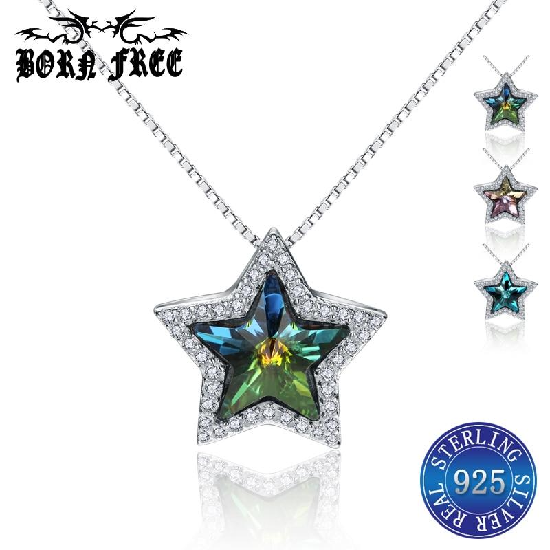 925 sterling silver necklaces pendants for women star pendant choker locket charms pendentif jewelry bijoux joyas de plata 925