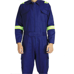 Image 3 - One piece Long Sleeve Safety Coveralls 100% Cotton Reflective Work Clothes Anti Static Clothes For Auto Repair Grid Coal Miner