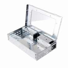 Humane Live Mouse Trap with A Clear Top , Multiple Catch Rats Trap Two Entrances with Anti-escape Doors