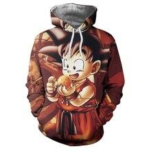 font b Anime b font Hoodies Dragon Ball Z Pocket Gohan Hooded Sweatshirts Kid Goku