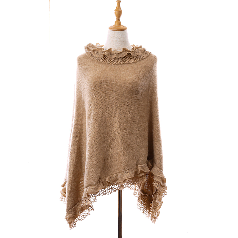 Knitted Sweater Loose Pullovers Batwing-Sleeve Casual Jumper Warm Female Solid-Color