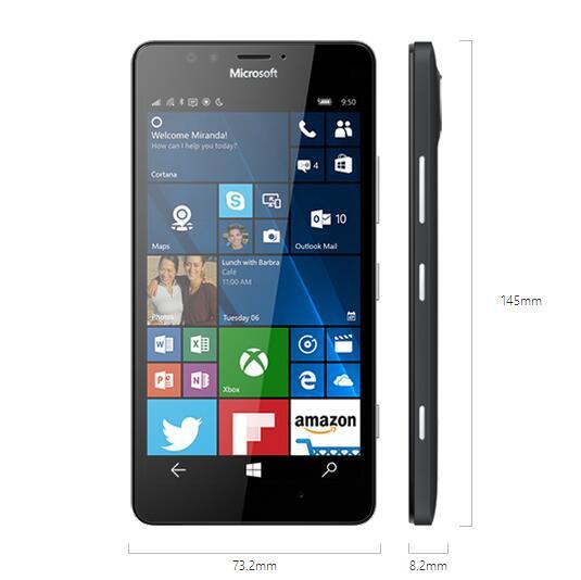 Original Unlocked Lumia 950 Nokia Microsoft 3GB RAM 32GB ROM Windows 10 Mobile Phone 4G LTE GSM 5.2'' WIFI GPS Hexa Core