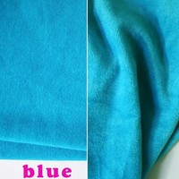 Blue Cotton Polyester Velour Knit Fabric Luxurious kid Wear Super Soft Extra Plush Stretchy 60 Wide Sold By The Yard