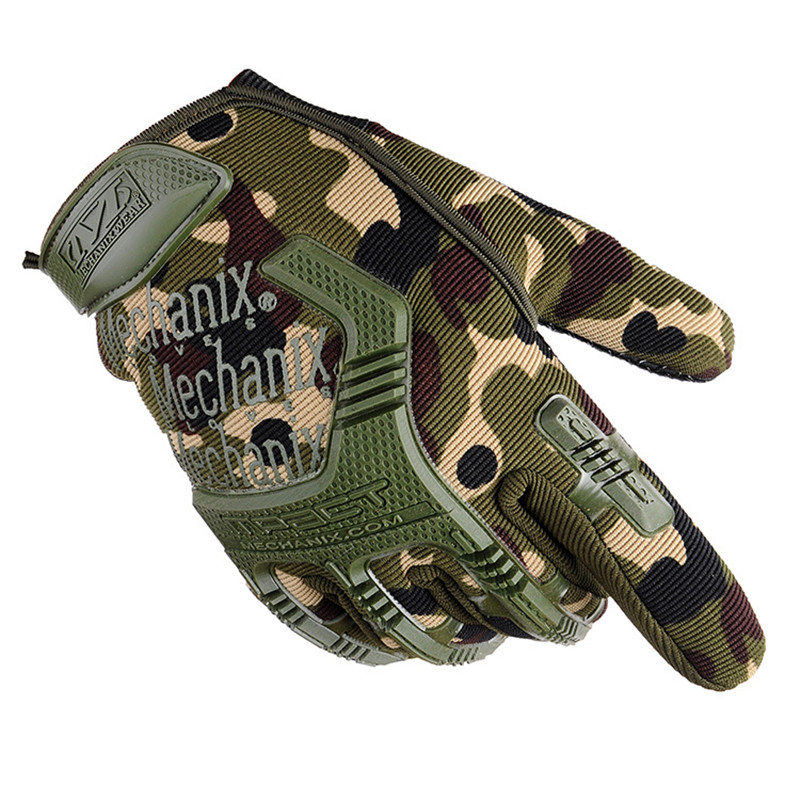 New Army Combat Tactical Gloves Men Full Finger Camouflage Paintball Military Gloves SWAT Soldier Shooting Bicycle Gloves Pistol