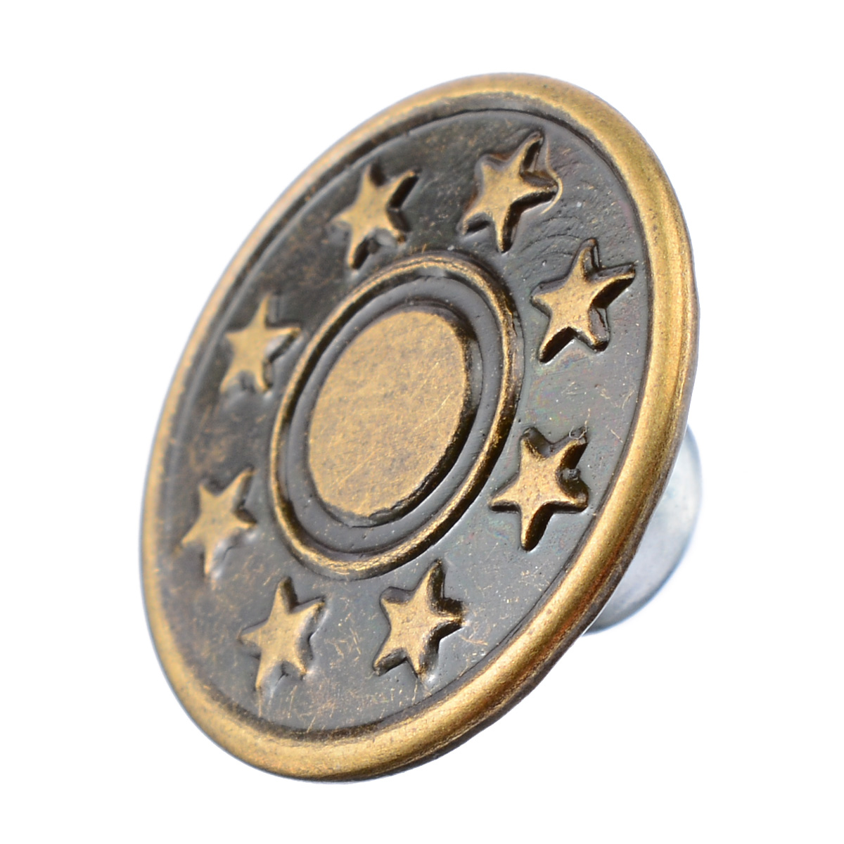 50 pcs/set Metal Button 5 Patterns Mix Denim Jacket Jeans Button 17mm Metal Hosier Button Seamless Press Button