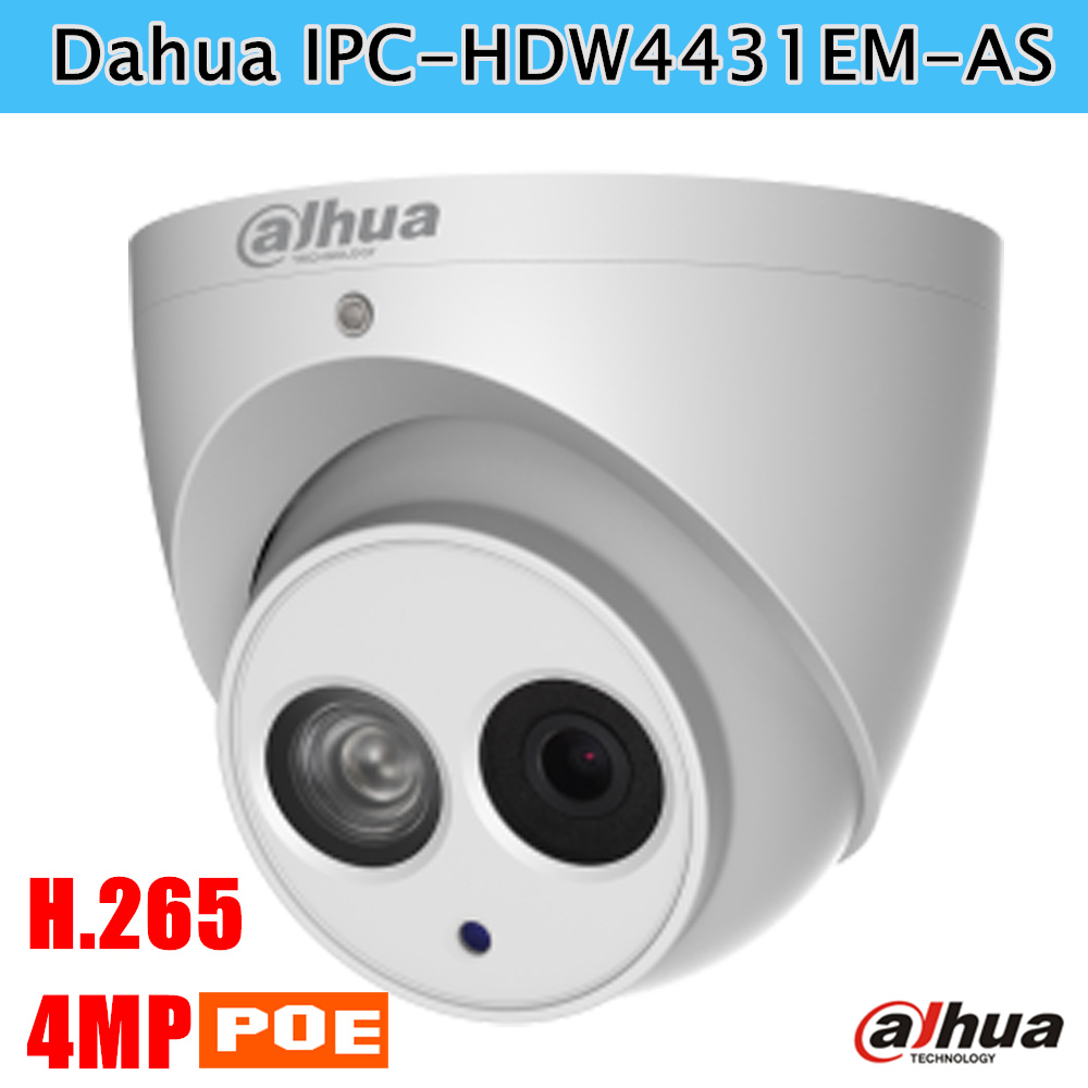 Newest Poe Dahua IP Camera IPC HDW4431EM AS 4MP IR Eyeball Network Camera Built in Mic