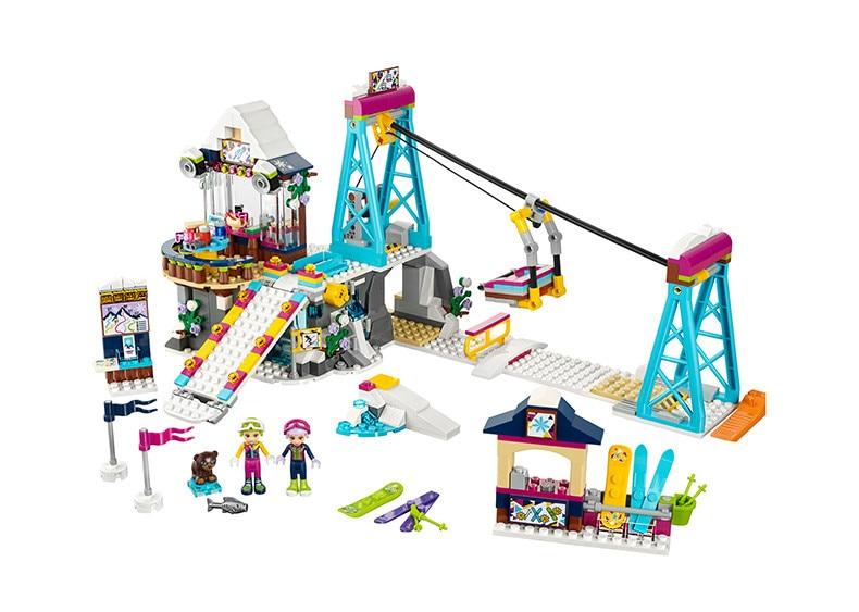 10732 bale Amis briques 519 PCS compatible Neige Station Ski Ascenseur 41324 Eclairer Blocs de Construction Briques Jouets