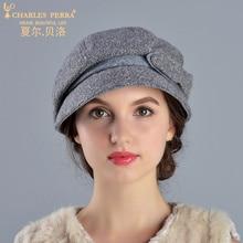 Charles Perra Brand Women Winter Wool Hat Elegant Lady Beret Warm Casual Female Fashion Hats Corros Corro 2017 NEW 8211