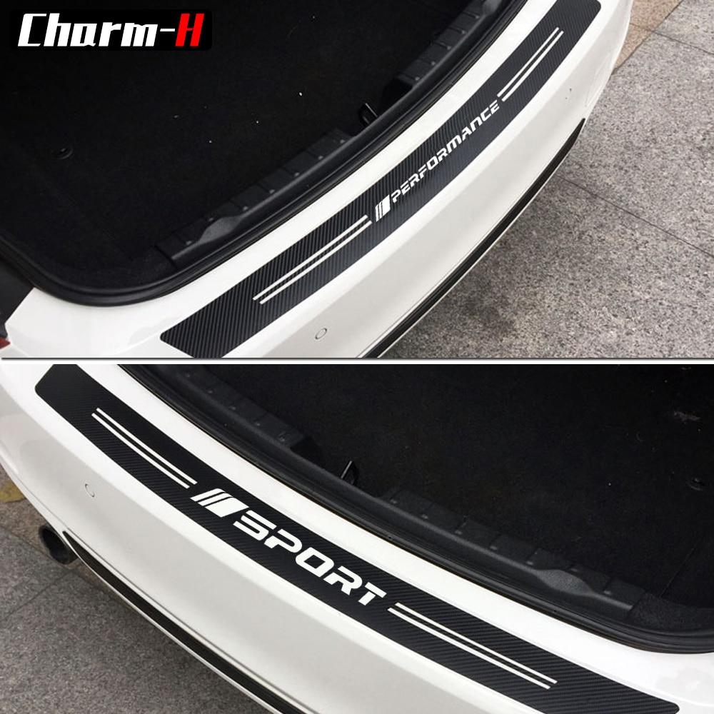 New 5d Carbon Fiber Car Rear Bumper Trunk Cover Trim Guard