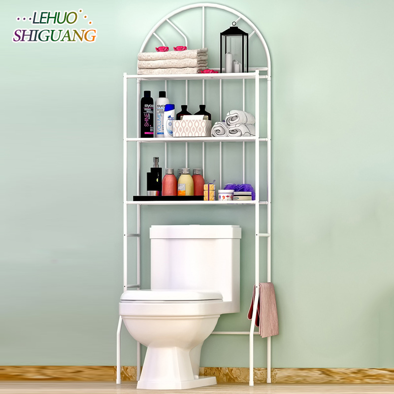 Bathroom Toilet shelf Shelves Storage rack Stainless steel Assembly can be removed move washing machine Shelf