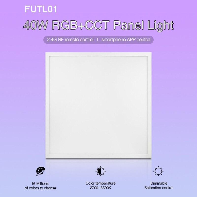 Miboxer 40 Вт RGB + CCT светодиодные панели 220 В FUTL01 с панелью света драйвер питания 2,4 г беспроводной пульт дистанционного управления смартфоном при...