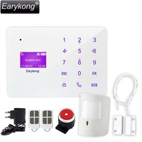 New Earykong GSM Alarm System Touch Keyboard Super Thin English Russian Spanish French Language For Home