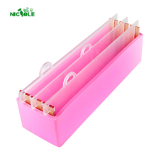 Nicole Silicone Loaf Soap Mold Rectangular Mould with Transparent Vertical Acrylic Clapboard