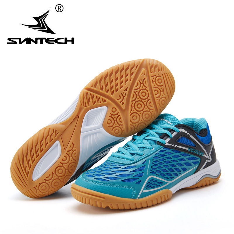 SUNTECH Men Women Table Tennis Shoes Training Breathable Lace holder Anti-Slippery Hard-Wearing Sneakers Sport Shoes free shipping candy color women garden shoes breathable women beach shoes hsa21