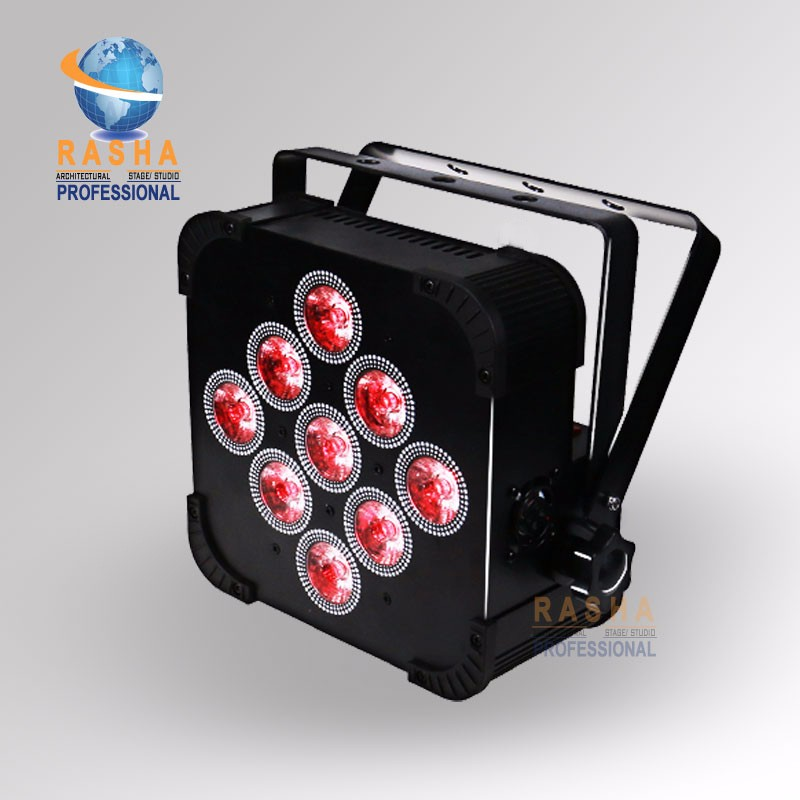 Rasha Penta Hot Sale 9pcs*15W 5in1 RGBAW Non Wireless LED Flat Par Can LED Slim Par Light For Stage Disco Party Light Xmas freeshipping 10in1 charging flightcase packing 12 18w stage wireless battery flat led par light rgbaw uv 6in1 uplighting par can