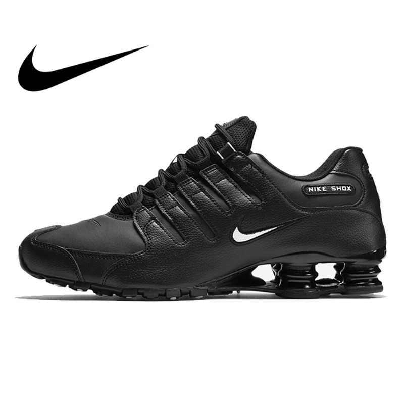 2189e6b57bc4 Original 2018 NIKE SHOX NZ EU Men s Running Shoes Outdoor Sports Designer  Athletics Official Cushioning Lace