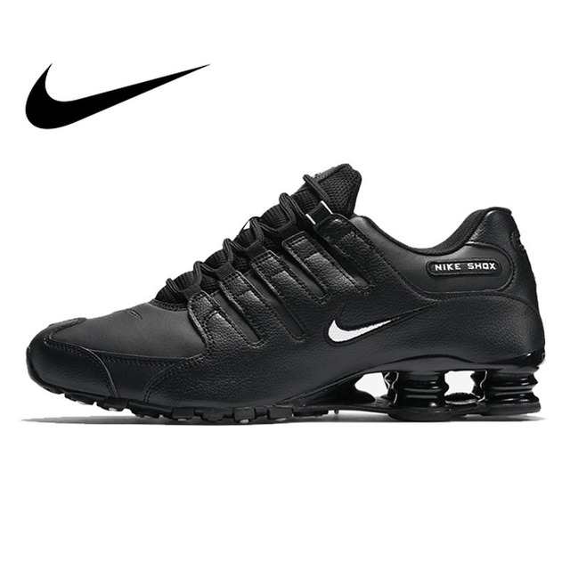 new style 347b3 e5474 Original 2018 NIKE SHOX NZ EU Mens Running Shoes Outdoor Sports Designer  Athletics Official Cushioning Lace-up Sneakers 501524