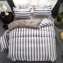 Classic bedding set striped duvet cover white bed linen set Geometric flat sheet set queen bed set Fashion new55