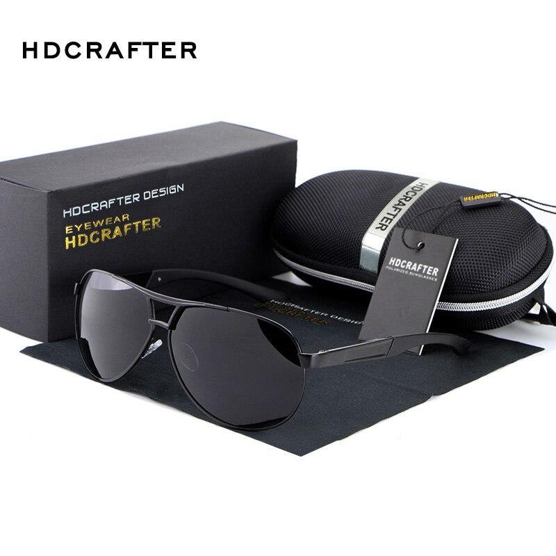 HDCRAFTER 2018 Hommes Lunettes De Soleil Marque Designer Unisexe Lunettes De Soleil Pilote Polarisées uv400 Oculos de sol masculino