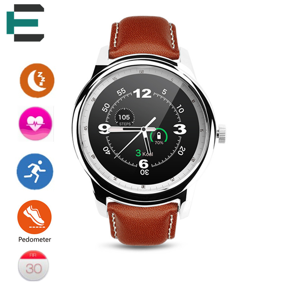 E T MTK2502 Smart Watch 1 33 HD IPS 360 360 pedometer Sleep Siri function font