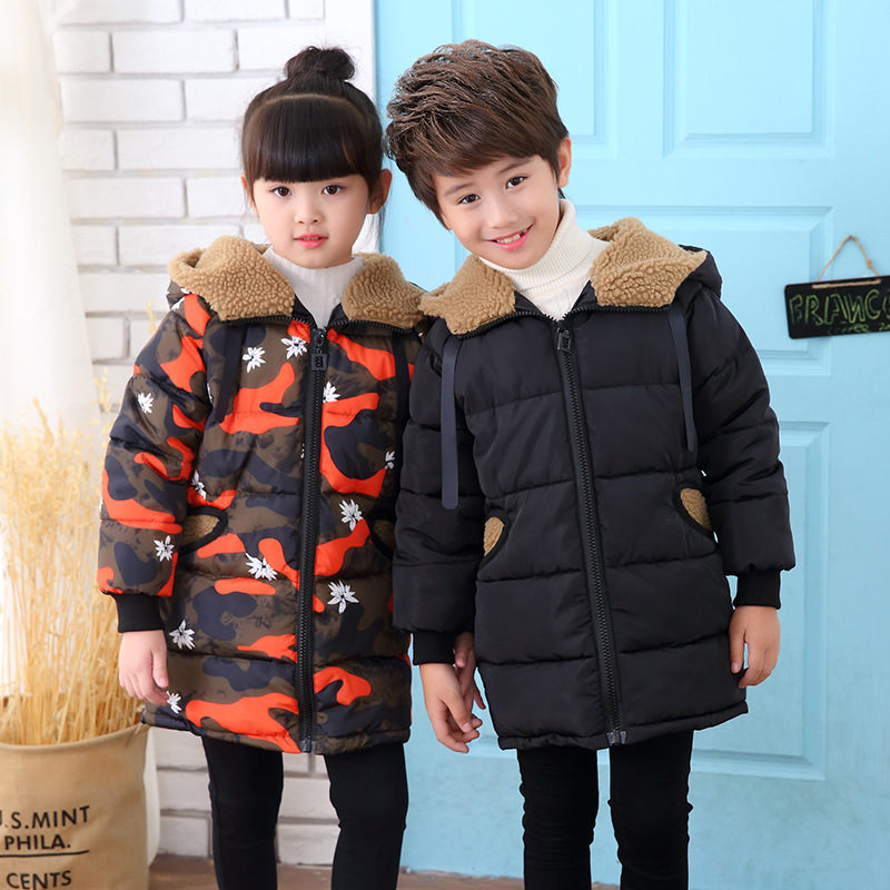 character hooded long winter jackets for girls & boys fleece camouflage coats kids clothes children warm tops clothing 5 8 10 Y boys fleece jackets solid coat kid clothes winter coats 2017 fashion children clothing