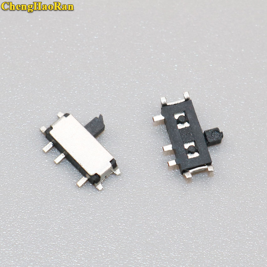 ChengHaoRan 5-10pcs 7 Pin Mini Slide Switch On-OFF 2Position Micro Toggle Miniature Horizontal