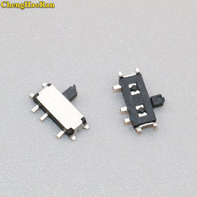 ChengHaoRan 5-10pcs 7 Pin Mini Slide Switch On-OFF 2Position Micro Slide Toggle Switch Miniature Horizontal Slide Switch jtron diy 2 pin toggle switch on off blue silver 5 piece pack