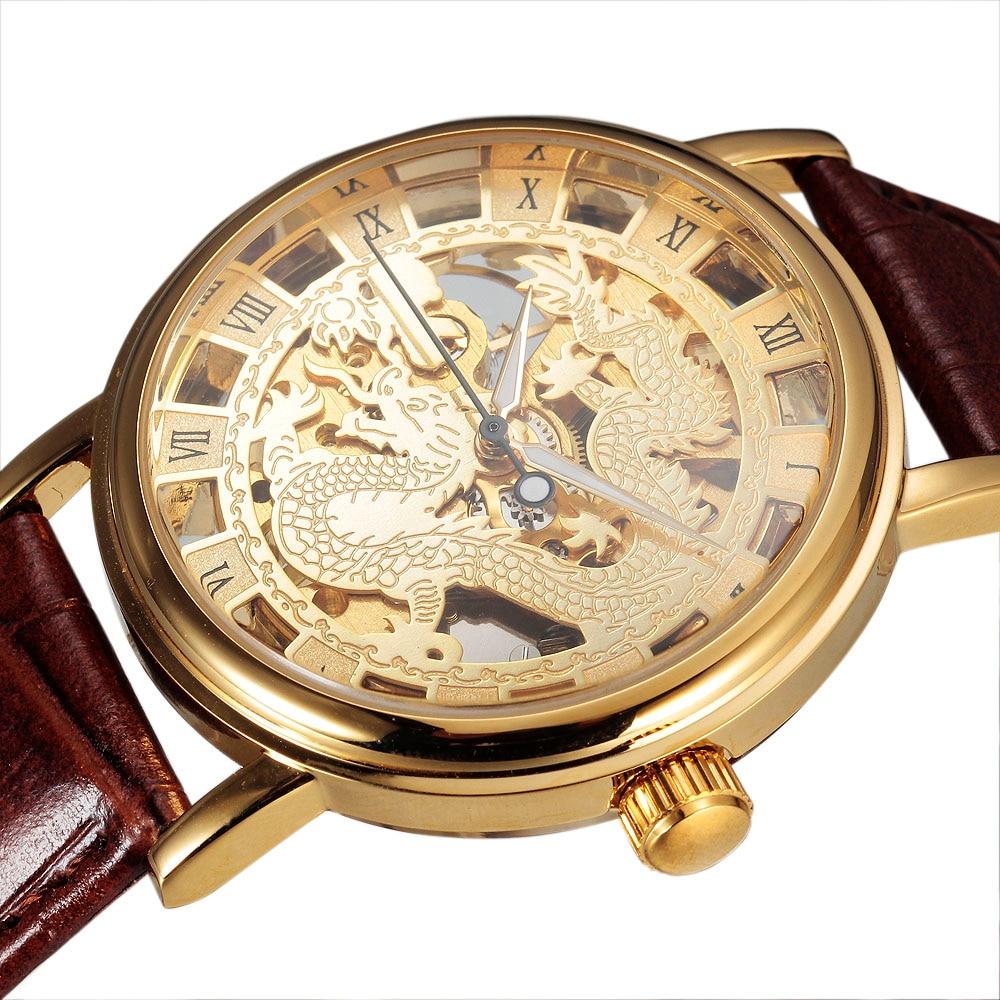 sewor الصينية التنين الهيكل العظمي - ساعات رجالية