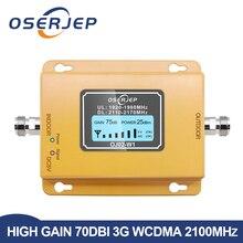 الجيل الثالث 3g مكرر 2100 هاتف محمول مكرر إشارة 2100MHz الهاتف المحمول إشارة الداعم مكبر للصوت ، LCD صغير 70db 3G LTE WCDMA UMTS