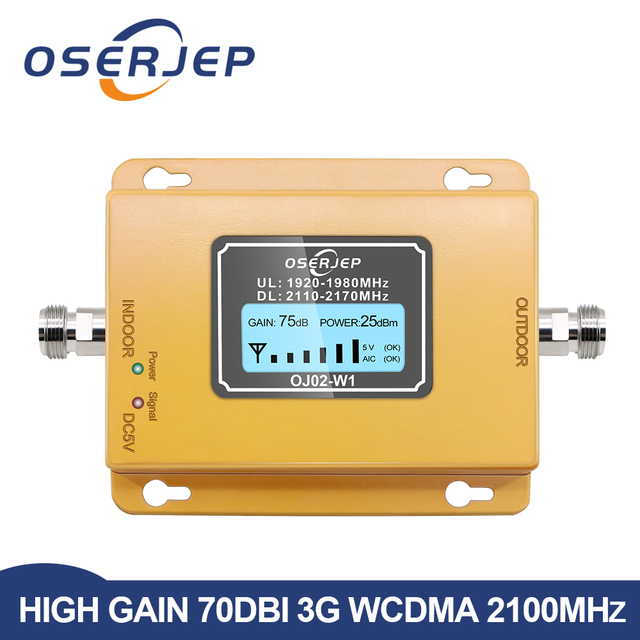 3g Repeater 2100 Cell Phone Signal Repeater 2100MHz Mobile Phone Signal Booster Amplifier,LCD Mini 70db 3G LTE WCDMA UMTS