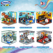 hot deal buy xingbao 01402 genuine building blocks the living house set building bricks educational toys compatible with logo blocks toys