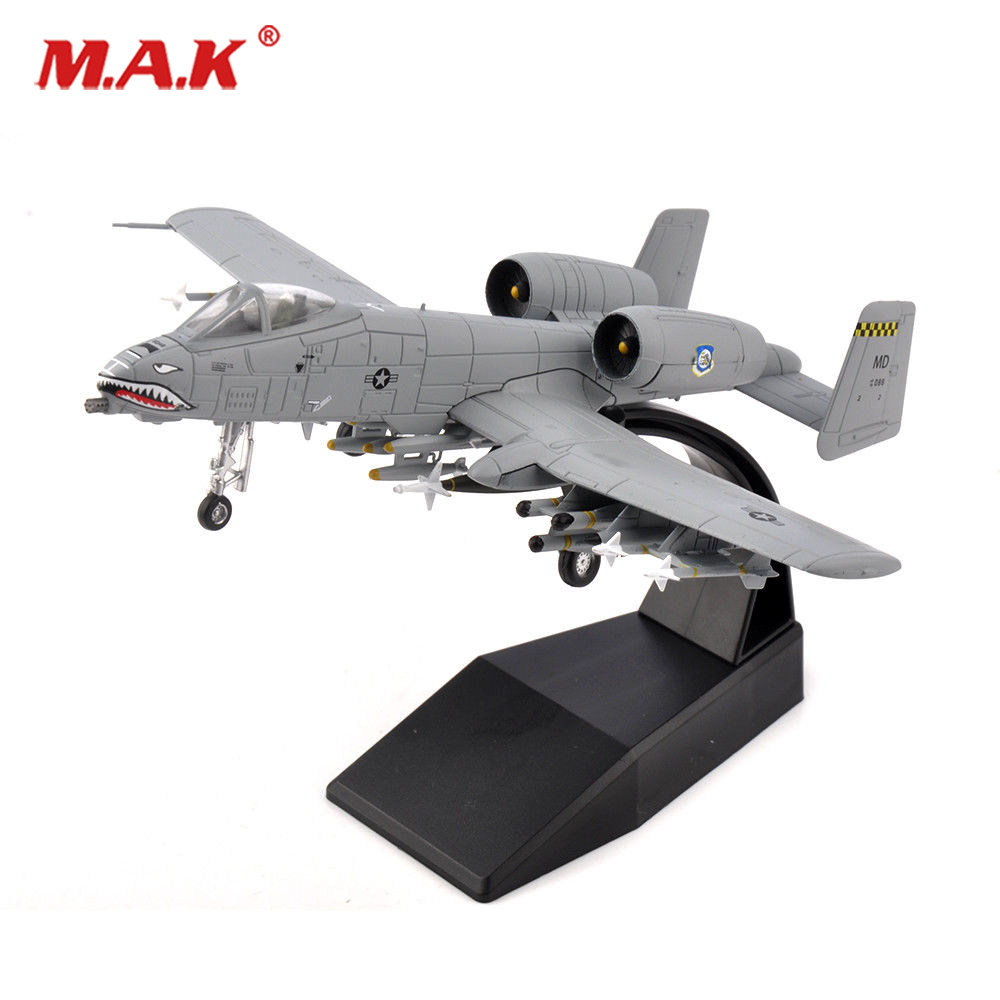 Kids toys 1/100 Diecast Attack A-10 Fighter Bomber Aircraft Model Toys F Collection Model Alloy AirlineToy brand new terebo 1 72 scale fighter model toys russia su 34 su34 flanker combat aircraft kids diecast metal plane model toy