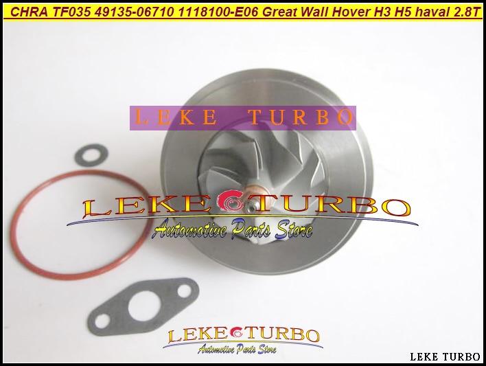 Turbo Cartridge CHRA TF035 1118100-E06 49135-06710 1118100 E06 49135 06710 For Great Wall Pickup Hover H3 H5 haval GW2.8TC 2.8L turbo cartridge chra tf035 1118100 e06 1118100e06 49135 06710 4913506710 for great wall hover h3 h5 haval 2 8t 2 8l gw2 8tc 70kw