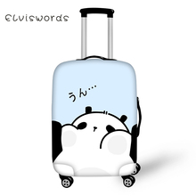 ELVISWORDS Travel Luggage Cover Lovely Simple Style Animals Printing for Suitcase Protective High Elasticity Case