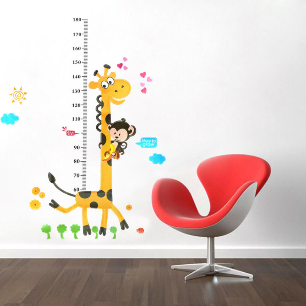 Children height table wall stickers pvc stickers cartoon cute wall children height table wall stickers pvc stickers cartoon cute wall stickers kids height chart wall stickers home decor giraffe in wall stickers from home geenschuldenfo Image collections